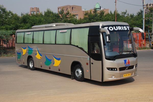 asian travel trade hire volvo coach in delhi
